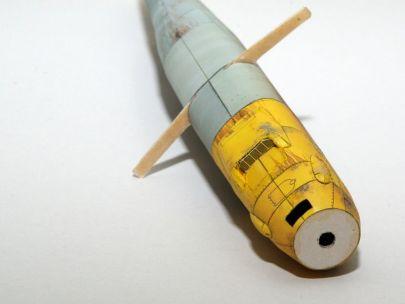 Bf-109 E-4/N Military Model 1/1999 - kratka wlotu powietrza oryginalna