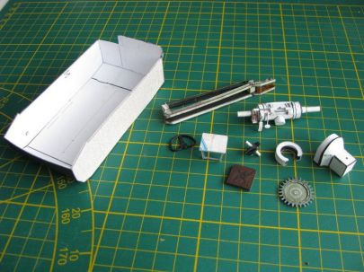 elementy prototypów powstałe przy budowie działa TKS-D