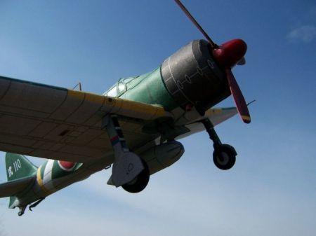 Japoński samolot myśliwski Mitsubishi A6M2 Zero