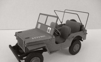 Willys Jeep model MB. Skala 1:25. Wydawn. ModelCard nr 62