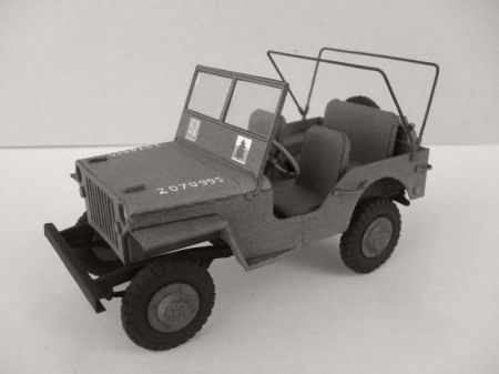 Willys Jeep model MB. Skala 1:25. Wydawn. ModelCard nr 62
