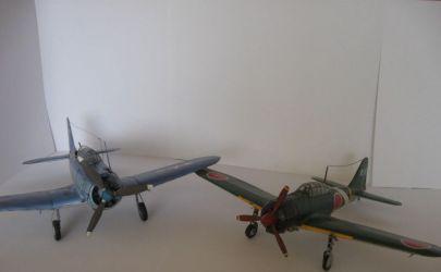 Japoński samolot myśliwski Mitubishi A6N2 Zero