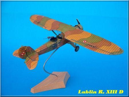 Samolot obserwacyjny  LUBLIN  RXIII D (w nowej odsłonie)