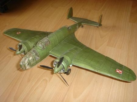 Samolot bombowy PZL P-37 Łoś