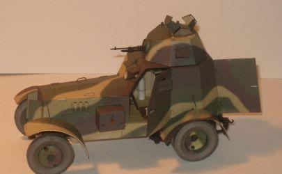 Polski samochód pancerny Wz.34 Kartonowa Kolekcja