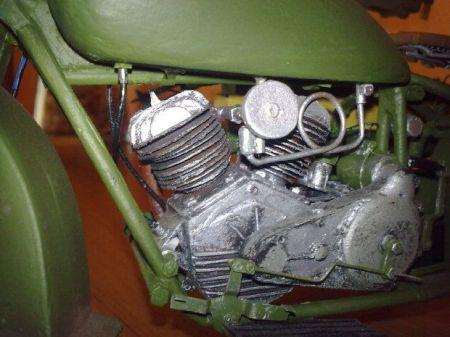 Motocykl M111 sokół1000 Wersja z ckm wz 30