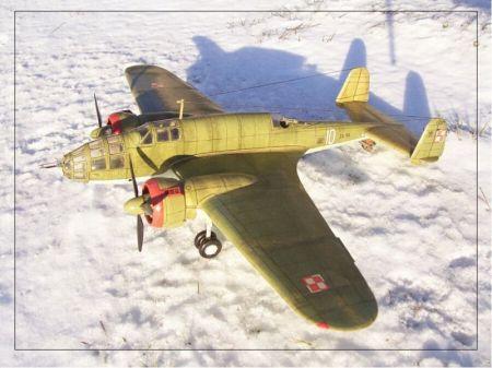 Samolot bombowy PZL.37 B ,,ŁOŚ,,