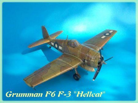 Samolot myśliwski Grumman F6 F-3 ''Hellcat''