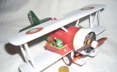 Santa Biplane, czyli Dwupłat Świętego Mikołaja z paper-replika.com