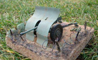 Diorama  Armata przeciwpancerna Bofors 37mm