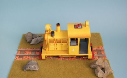 lokomotywa spalinowa DAVENPORT + mini dioramka