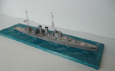 HMS Exeter, JSC 403, skala 1:400