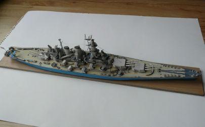 USS North Carolina, JSC 12 wydanie I, skala 1:400.