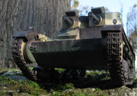 lekki czołg polski 7 TP wersja dwuwieżowa