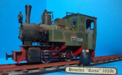 Niemiecki parowóz wąskotorowy Bn2t Riesa