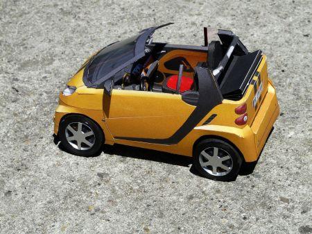 Yellow Smart Cabrio