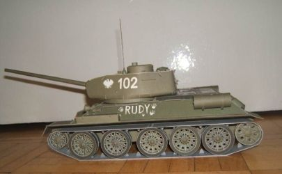 Czołg T-34 Rudy - nowe zdjęcia