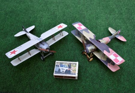 SPAD VII C.1 (19 Eskadra Myśliwska) vs SPAD VII C.1 (10 Департамент Aвиации BBC PKKA) - maj 1920)
