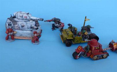 Orki , Cybot i  pojazdy  z do gry Warhammer 40.000