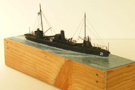 Niemiecki torpedowiec SMS A-21 - na podstawie JSC 1:250.