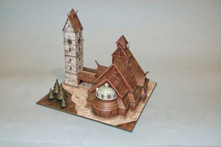RAVEN6 po ewangelicko-augsbursku czyli Kościół Wang w Karpaczu z GPM-u w skali 1:150