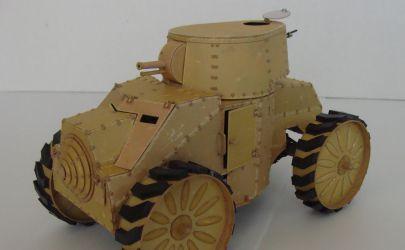 Włoski czołg kołowy ANSALDO z 1929 roku