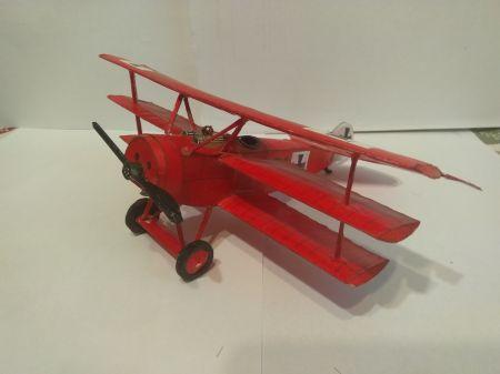 Fokker dr1 z małego modelarza