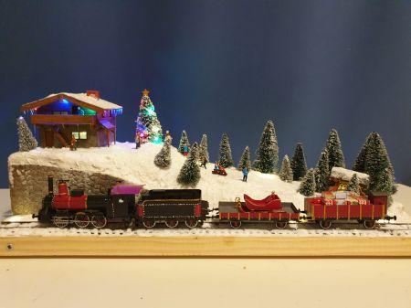 Świąteczna diorama troche kolejowa;)