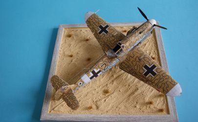 Powrót MESSERSCHMITTÓW czyli RAVEN6 i kolejny BF-109. Tym razem Bf-109G-2 z Kartonowej Kolekcji w skali 1:33.