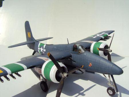 Grumman F7F Tigercat FLY MODEL 2