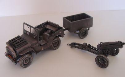 Airborne Jeep & haubica 75mm