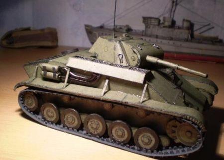 Radziecki  czołg lekki  T-70