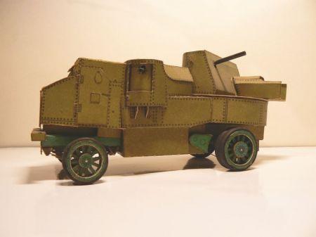 Wóz pancerny z czasów Rewolucji Październikowej