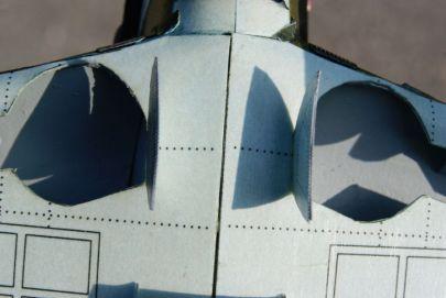 Wnęki podwozia w zbliżeniu makro.