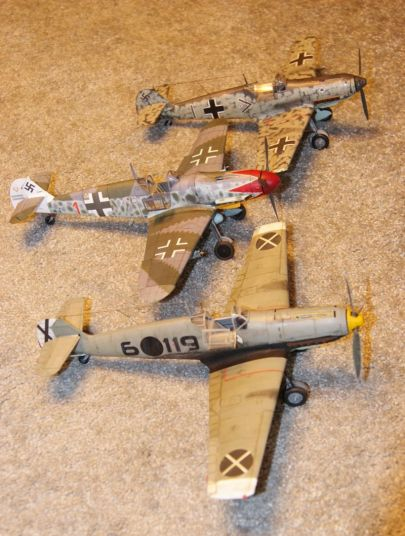 3 x Bf-109