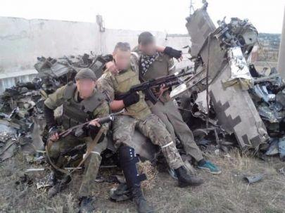 ... i jego szczątki kiedy został zestrzelony przez Donieckich separatystów 29.08.2014.
