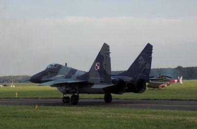 MiG-29 Nr. 114 z 23 Bazy Lotnictwa Taktycznego z wizerunkiem ,,Dziubka'' Horbaczewskiego