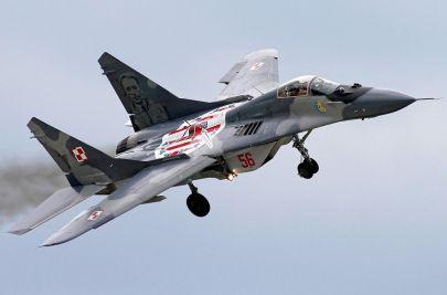 MiG-29A nr. takt. 56 jeszcze w ,,starym'' malowaniu przed 2016 rokiem...