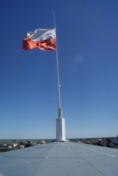 Położenie flagi na maszcie w dniu naszej wycieczki