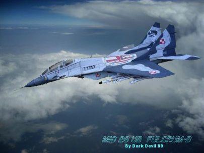 MiG-29UB - Fotomontaż Szamana :-)