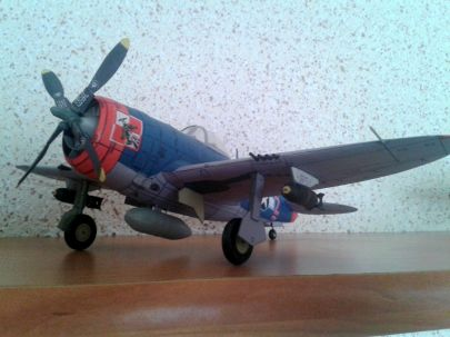 Republic P-47M ,,Thunderbolt'' - kpt. Witold Łanowski - 61FS 56 FG USAAF, Boxted, Wlk. Brytania - marzec 1945 r.