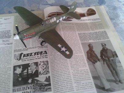 Curtiss P-40N ,,Warhawk'' mjr. Witold Urbanowicz. 75FS 23 FG USAAF. Hengyang, Chiny - grudzień 1943 r.