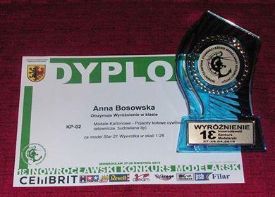 Wyróżnienie na konkursie w Inowrocławiu 2019
