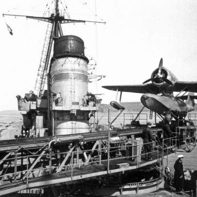 Be-4 na katapulcie 1940 rok