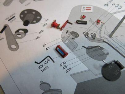 detale do paleniska w budce maszynisty