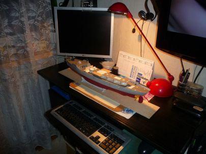 Cała stocznia na tym małym biurku